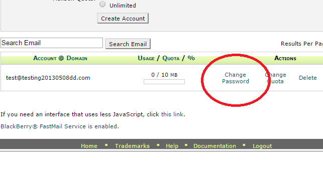how to change my shaw webmail password